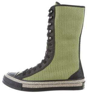 J.W.Anderson Converse Woven High-Top Sneakers