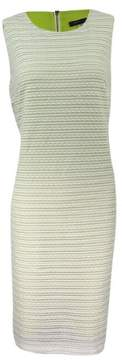 Tommy Hilfiger Women's Variegated Sheath Dress (6, Ivory)