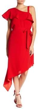 Adelyn Rae Reese Ruffle Asymmetrical Hem Dress