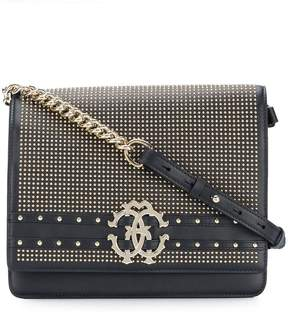 Roberto Cavalli studded logo shoulder bag