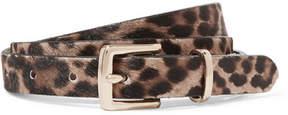 J.Crew Leopard-print Calf Hair Belt - Leopard print