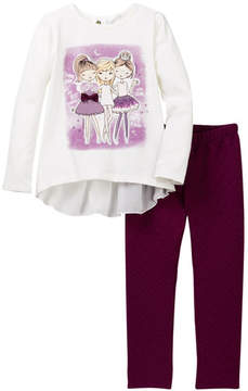 Petit Lem BFF Top & Pants Set (Toddler & Little Girls)