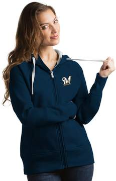 Antigua Women's Milwaukee Brewers Victory Full-Zip Hoodie