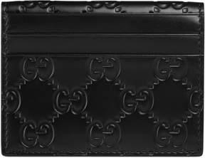Gucci Signature card case - BLACK GUCCI SIGNATURE - STYLE