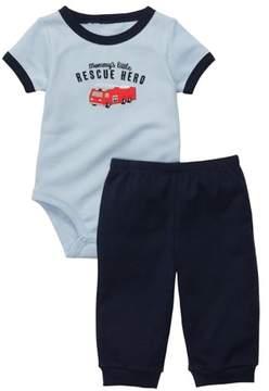 Carter's Infant Boys 2-Piece Mommy's Little Rescue Hero Bodysuit & Pants Set
