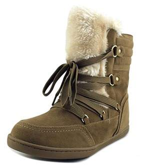 G by Guess Ryla Women Round Toe Synthetic Brown Winter Boot.