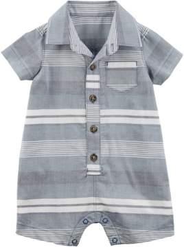 Carter's Baby Boys Stripe Pocket Polo Romper