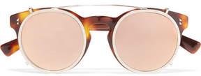 Valentino - Embellished Round-frame Acetate And Gold-tone Sunglasses - Tortoiseshell