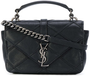 Saint Laurent mini Collège satchel bag - BLACK - STYLE