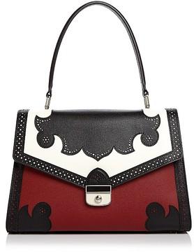 Longchamp Effronté Leather Shoulder Bag - RED LACQUER/GUNMETAL - STYLE
