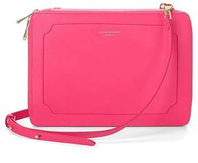 Aspinal of London | Marylebone Ipad Air Case With Crossbody Strap In Smooth Neon Pink | Smooth neon pink