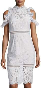 Keepsake Oblivion Lace Cold-Shoulder Dress