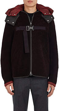 Oamc Men's Shearling & Leather Hooded Blouson Jacket