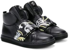 Versace baroque print hi-top sneakers