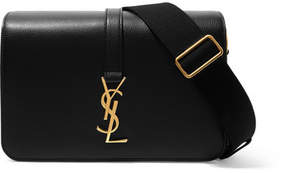 Saint Laurent Monogramme Sac Université Textured-leather Shoulder Bag - Black