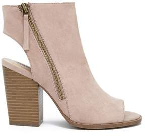 Forever 21 Faux Suede Cutout Ankle Boots