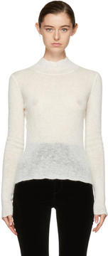 Carven Off-White Mohair Pullover