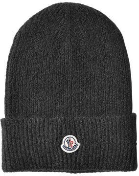 Moncler Ribbed Beanie with Alpaca and Wool