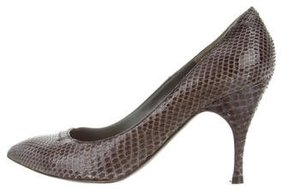 Marc Jacobs Snakeskin Pointed-Toe Pumps