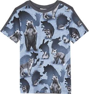 Molo Rishi animal shadow print cotton T-shirt 4-14 years