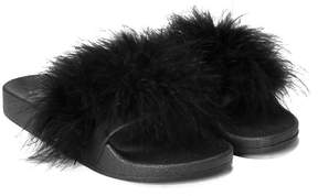 Nasty Gal nastygal Fur Better Faux Fur Slide Sandal