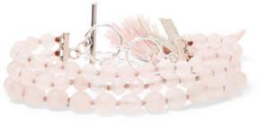 Chan Luu Tasseled Silver-tone Rose Quartz Bracelet - Rose gold