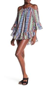 Ale By Alessandra Beach Blanket Cold Shoulder Cover-Up Dress