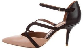 Malone Souliers Bicolor Pointed-Toe Pumps