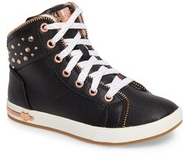 Skechers Girl's Shoutouts Embellished High Top Sneaker