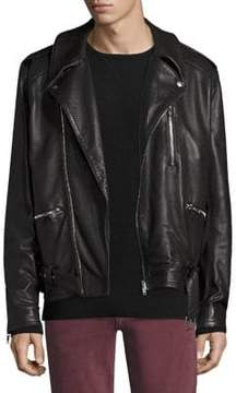 Joe's Jeans Mick Leather Riding Jacket