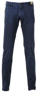 Monocrom Men's Blue Cotton Pants.