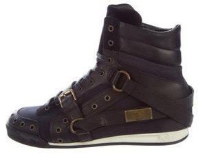 John Galliano Leather Harness Sneakers