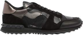 Valentino Rockrunner Camo Leather Sneakers