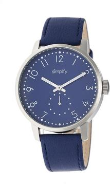 Simplify The 3400 Collection SIM3404 Silver Analog Watch