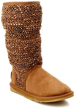 Australia Luxe Collective Macrame Slouch Tall Suede Boot.