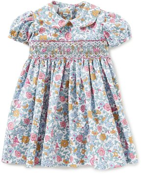Edgehill Collection Baby Girls 3-24 Months Floral-Print Smocked Dress