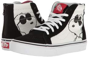 Vans Kids Sk8-Hi Zip x Peanuts Joe Cool/Black) Kids Shoes