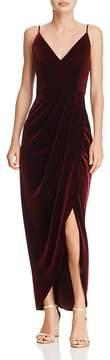 Aqua Velvet Faux-Wrap Dress - 100% Exclusive