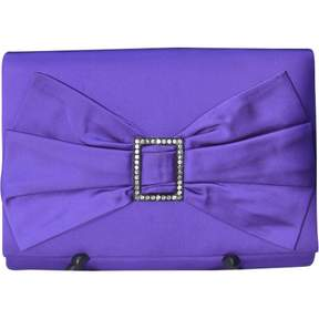 Nina Ricci Vintage Purple Cotton Clutch Bag