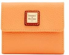 Dooney & Bourke Pebble Grain Small Flap Wallet - APRICOT - STYLE