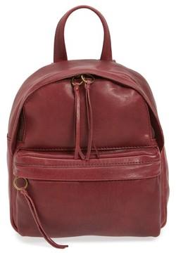 Madewell Mini Lorimer Leather Backpack - Burgundy