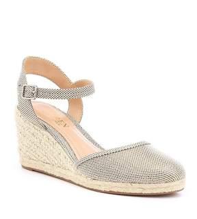 Lauren Ralph Lauren Hayleigh Metallic Espadrille Wedge Sandals