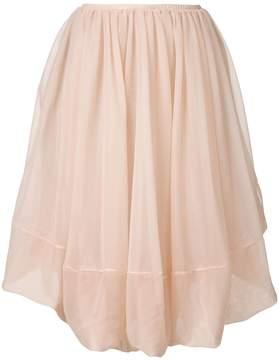 Jil Sander layered skirt