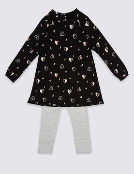 Marks and Spencer 2 Piece Top & Leggings Outfit (3 Months-5 Years)