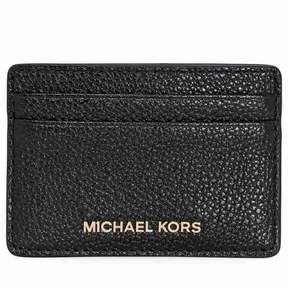 Michael Kors Money Pieces Leather Card Holder- Black