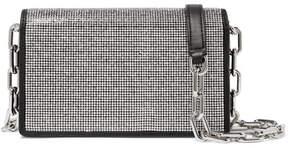 Alexander Wang Attica Crystal-embellished Leather Shoulder Bag - Silver