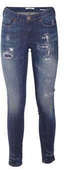 Scotch & Soda Men's Blue Cotton Jeans.