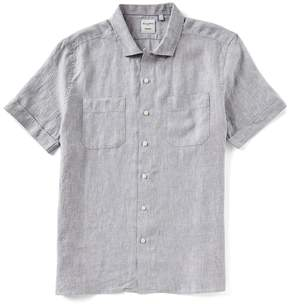 Murano Solid 2-Pocket Short-Sleeve Woven Slim Fit Camp Shirt