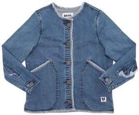 Molo Two Tone Stretch Cotton Denim Jacket