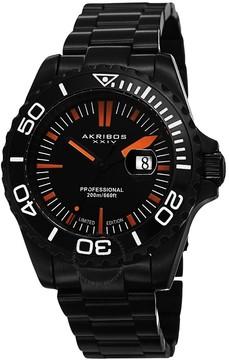 Akribos XXIV Black IP Stainless Steel Men's Watch